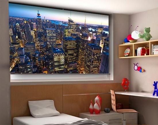 Empire State at Night New York Skyline Printed Picture Photo Roller Blind - RB286 - Art Fever - Art Fever