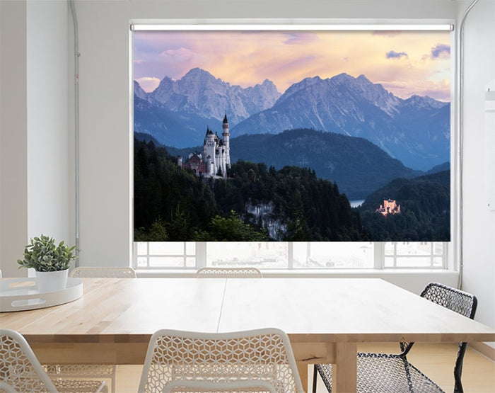 Famous Neuschwanstein Castle At Sunset, Germany Printed Picture Photo Roller Blind - RB1078 - Art Fever - Art Fever