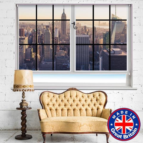 Faux Window View of NYC Empire State Building Printed Picture Photo Roller Blind - RB585 - Art Fever - Art Fever