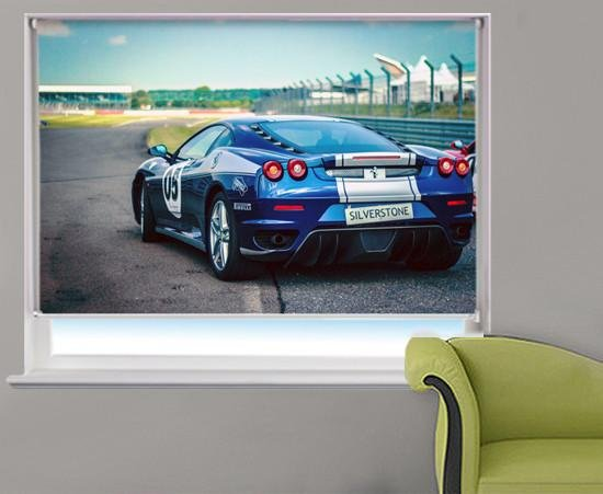 Ferrari at Silverstone Printed Picture Photo Roller Blind - RB325 - Art Fever - Art Fever