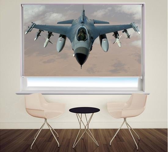 Fighter Jet Aviation Photo Printed Picture Photo Roller Blind - RB346 - Art Fever - Art Fever