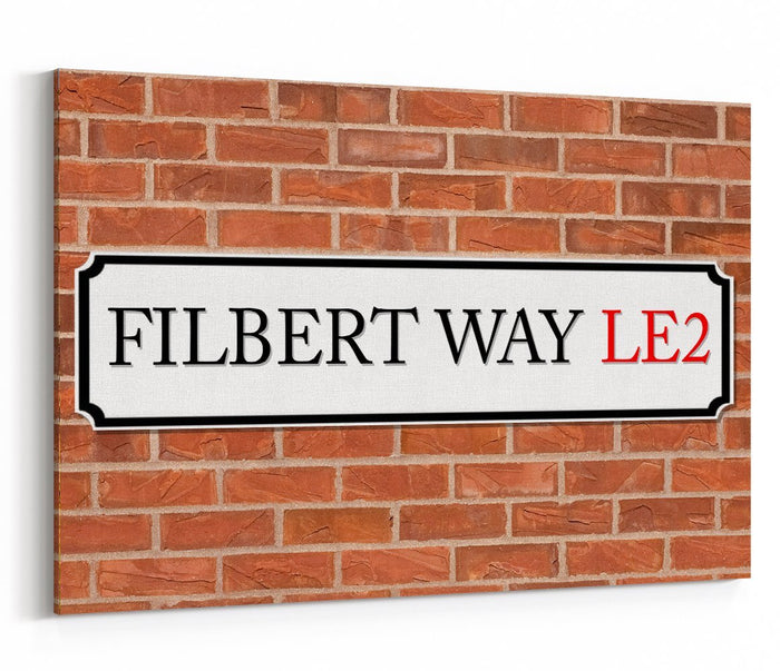 Filbert Way LE2 Street Sign Canvas Print Picture - SPC234 - Art Fever - Art Fever