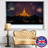 Fireworks on Burma New Years Printed Picture Photo Roller Blind - RB619 - Art Fever - Art Fever