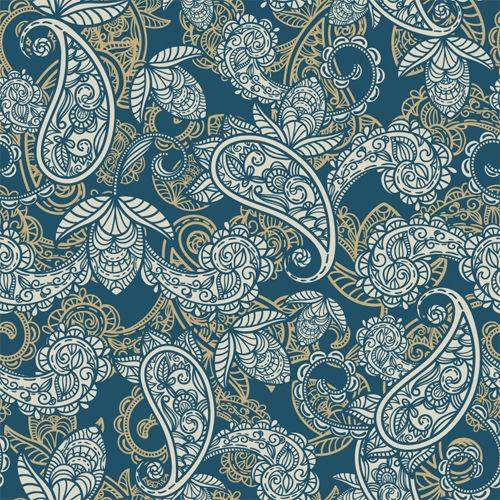 Floral Paisley Background Printed Picture Photo Roller Blind - RB522 - Art Fever - Art Fever