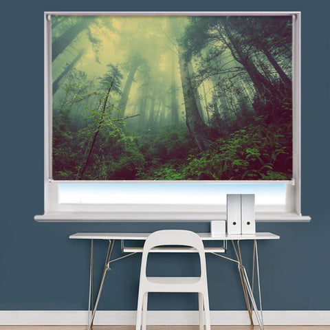 Forest Mist Nature Trees Scene Image Printed Roller Blind - RB832 - Art Fever - Art Fever