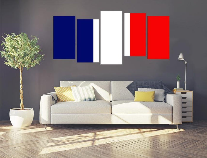 France Flag Multi Panel Canvas Print wall Art - MPC49 - Art Fever - Art Fever