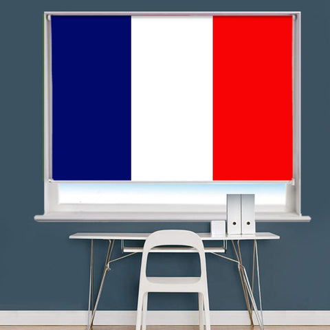 France French Flag Printed Picture Roller Blind - RB767 - Art Fever - Art Fever