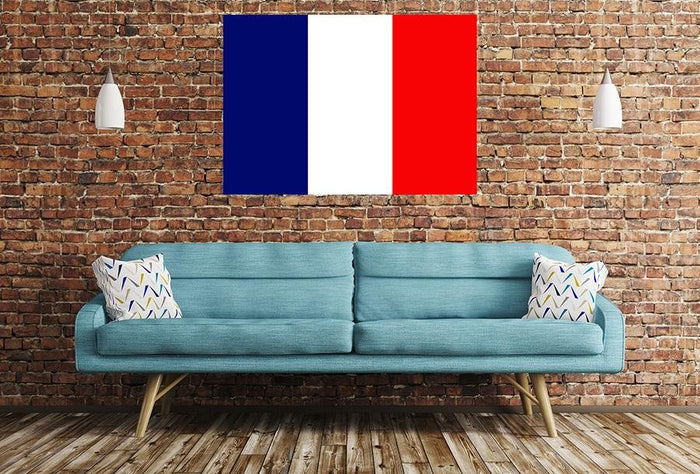 French Flag Image Printed Onto A Single Panel Canvas - SPC54 - Art Fever - Art Fever