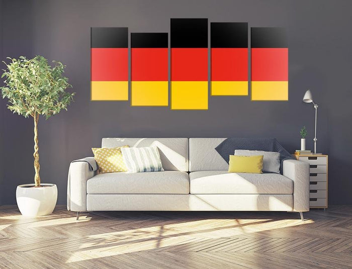 German Flag Multi Panel Canvas Print wall Art - MPC50 - Art Fever - Art Fever