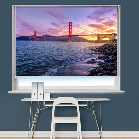 Golden Gate Bridge In San Francisco Printed Picture Roller Blind - RB745 - Art Fever - Art Fever