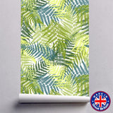 Green Fern Leaves Floral Pattern Removable Self Adhesive Wallpaper - WM611 - Art Fever - Art Fever