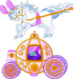 GS5 - Fairytale carriage with horse large removable wall sticker - Art Fever - Art Fever
