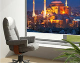 Hagia Sophia Mosque at Night Printed Picture Photo Roller Blind - RB77 - Art Fever - Art Fever