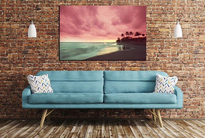 Hawaiian Beach Image Printed Onto A Single Panel Canvas - SPC144 - Art Fever - Art Fever