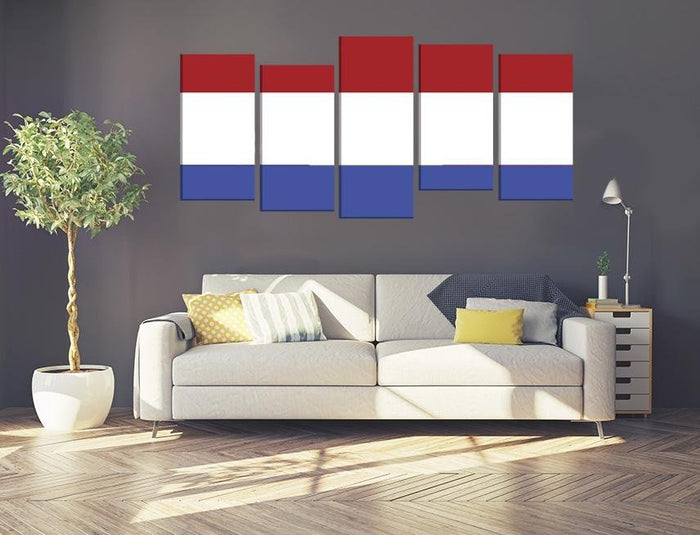 Holland Flag Multi Panel Canvas Print wall Art - MPC52 - Art Fever - Art Fever