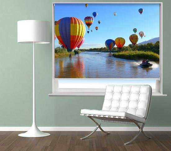Hot Air Balloons Over the Water Printed Picture Photo Roller Blind - RB314 - Art Fever - Art Fever