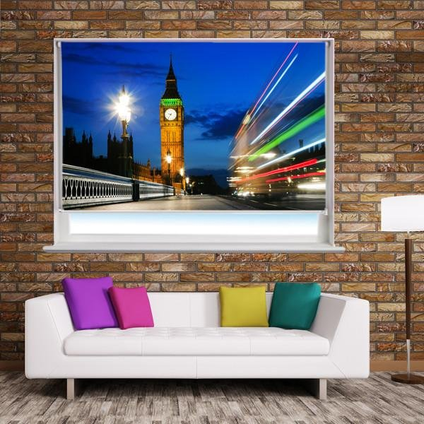 Houses of Parliament at night in London Printed Picture Photo Roller Blind - RB259 - Art Fever - Art Fever
