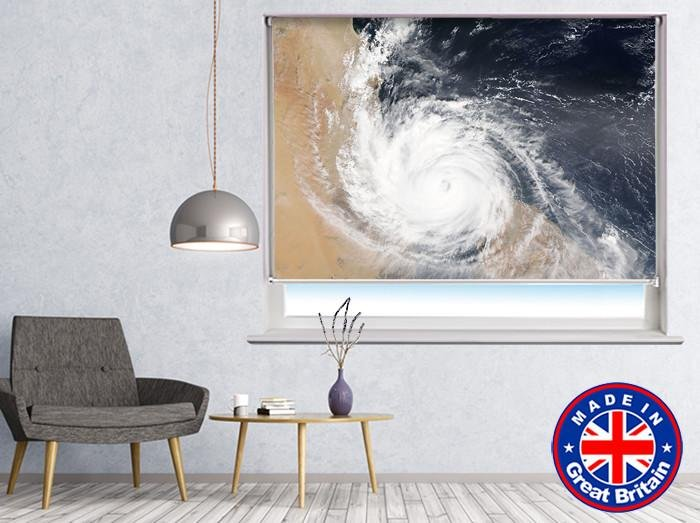 Hurricane From Space Printed Picture Photo Roller Blind - RB553 - Art Fever - Art Fever