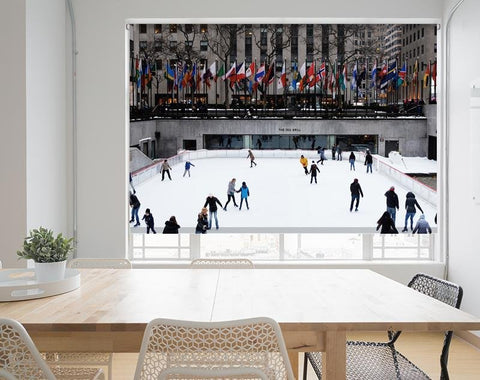 Ice Skating in New York City Printed Picture Photo Roller Blind - RB690 - Art Fever - Art Fever