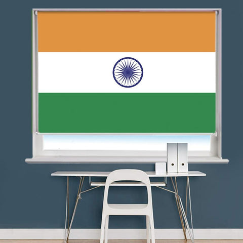 India Indian Flag Printed Picture Roller Blind - RB766 - Art Fever - Art Fever