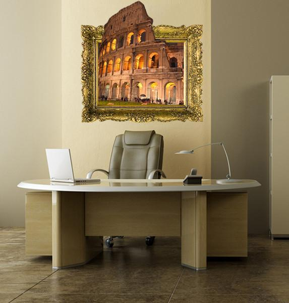 IPF13 - The Colosseum illusion picture frame wall decal - Art Fever - Art Fever