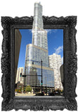 IPF14 - The Trump Towers illusion picture frame wall decal - Art Fever - Art Fever