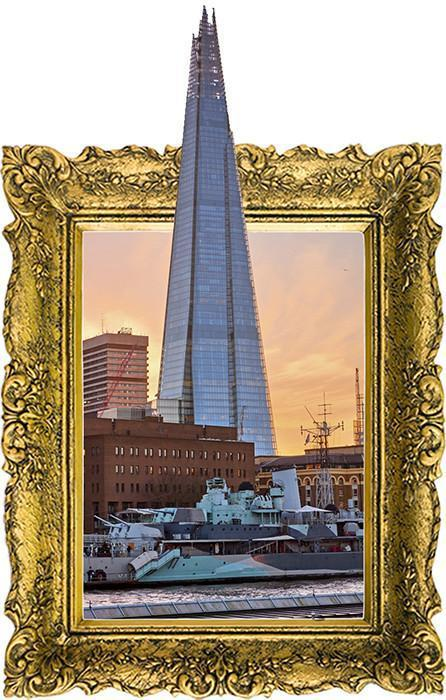 IPF3 - The Shard illusion picture frame wall decal - Art Fever - Art Fever