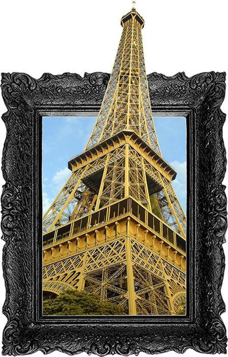 IPF5 - The Eiffel tower illusion picture frame wall decal - Art Fever - Art Fever