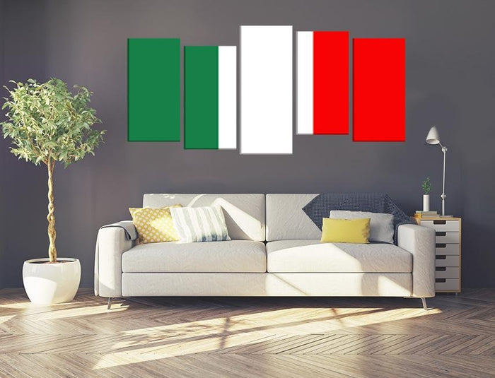 Italy Flag Multi Panel Canvas Print wall Art - MPC38 - Art Fever - Art Fever