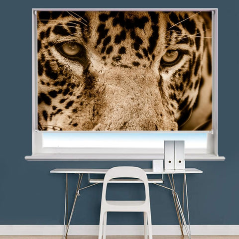 Jaguar Eyes Image Printed Roller Blind - RB849 - Art Fever - Art Fever