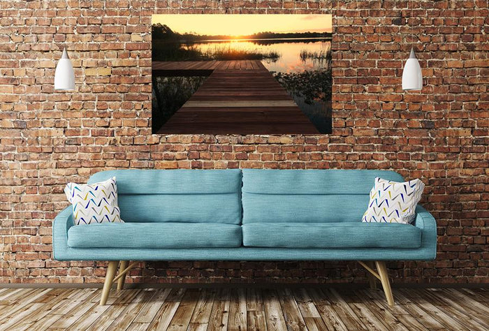 Jetty Broadwalk Sunset Pier Image Printed Onto A Single Panel Canvas - SPC63 - Art Fever - Art Fever