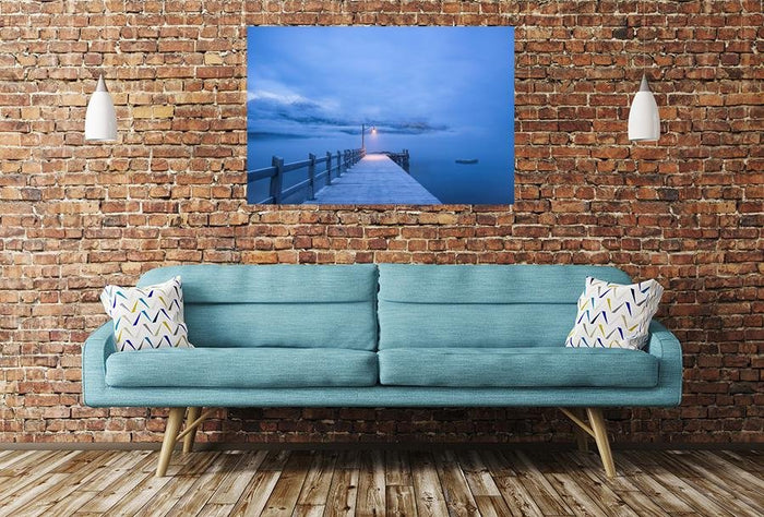 Jetty Pier Ocean Image Printed Onto A Single Panel Canvas - SPC59 - Art Fever - Art Fever