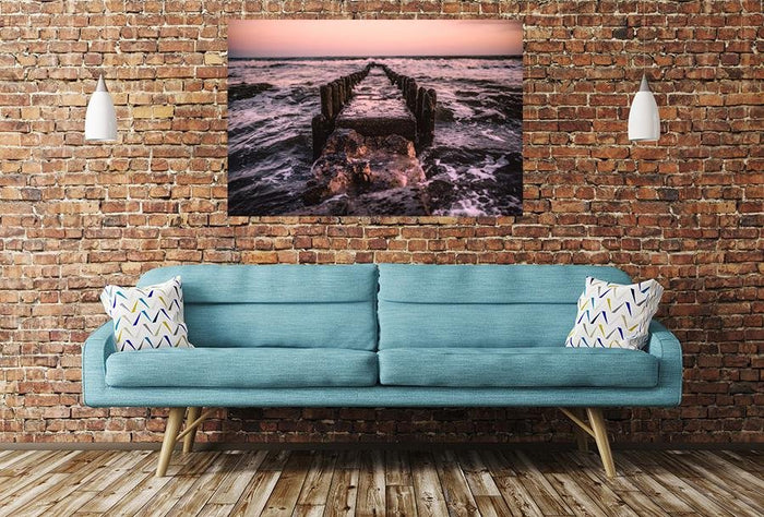 Jetty Pier Remains Image Printed Onto A Single Panel Canvas - SPC64 - Art Fever - Art Fever