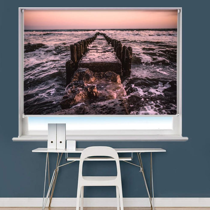 Jetty Pier Remains Printed Picture Roller Blind - RB776 - Art Fever - Art Fever