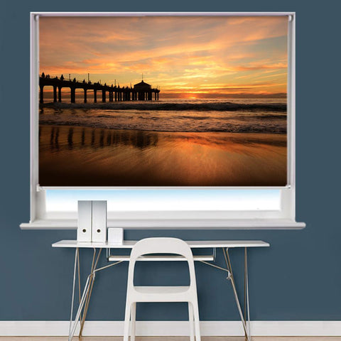 Jetty Pier Sunset Scene Printed Picture Roller Blind - RB748 - Art Fever - Art Fever