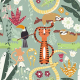 Kids Cartoon Jungle Animals Pattern Printed Picture Photo Roller Blind - RB537 - Art Fever - Art Fever
