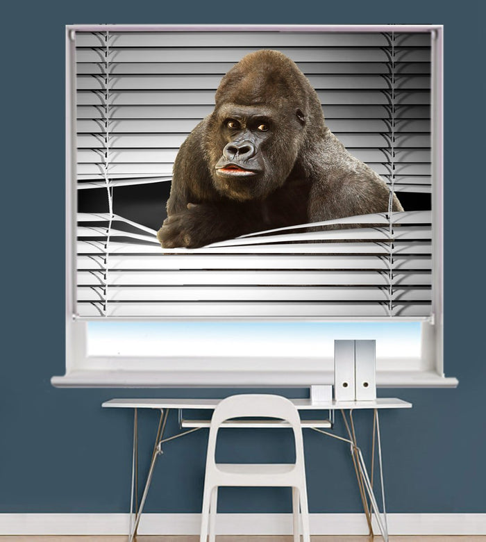 King Kong Peeking through the blind Printed Picture Photo Roller Blind - RB711 - Art Fever - Art Fever