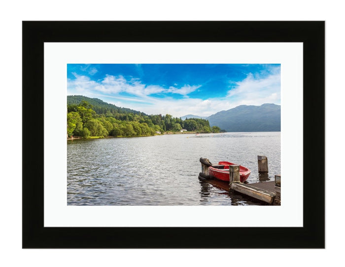 Lake Loch Lomond on a Beautiful Summer Day Framed Mounted Print Picture - FP42 - Art Fever - Art Fever