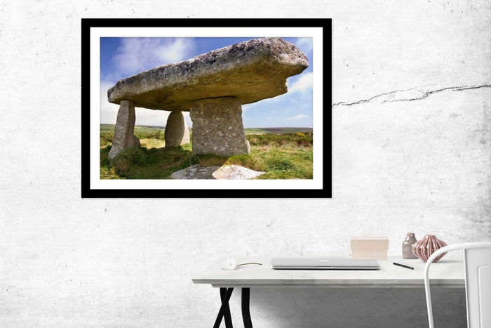 Lanyon Quoit Prehistoric Stones In Cornwall Framed Mounted Print Picture - FP27 - Art Fever - Art Fever