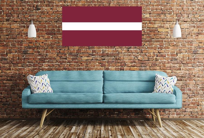 Latvian Flag Image Printed Onto A Single Panel Canvas - SPC43 - Art Fever - Art Fever