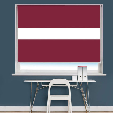 Latvian Flag Printed Picture Roller Blind - RB755 - Art Fever - Art Fever