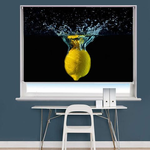 Lemon Water Splash Printed Picture Photo Roller Blind - RB793 - Art Fever - Art Fever