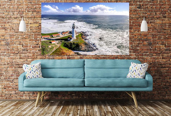 Lighthouse On Coastline Image Printed Image Printed Onto A Single Panel Canvas - SPC25 - Art Fever - Art Fever