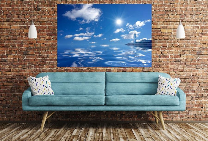 Lighthouse & Sea Image Printed Image Printed Onto A Single Panel Canvas - SPC24 - Art Fever - Art Fever