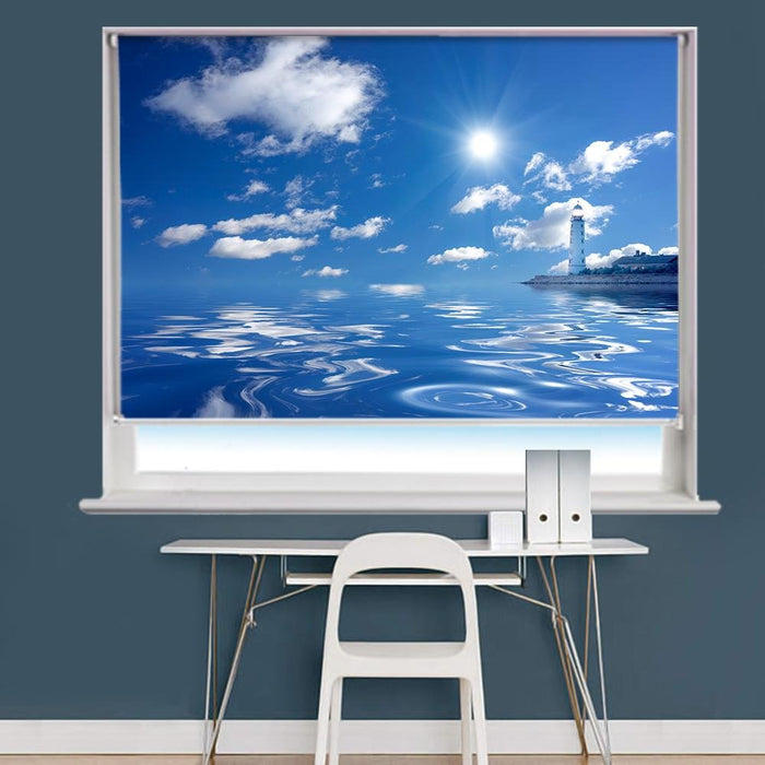 Lighthouse & Sea Printed Picture Roller Blind - RB737 - Art Fever - Art Fever