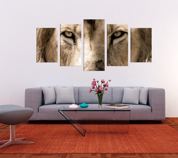 Lion Eyes Image Multi Panel Canvas Print wall Art - MPC148 - Art Fever - Art Fever