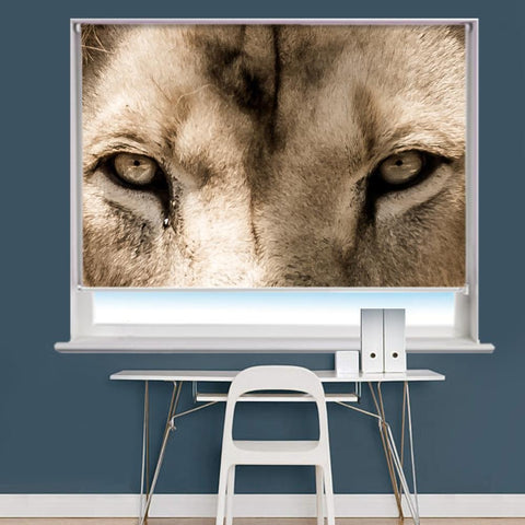 Lion Eyes Image Printed Roller Blind - RB848 - Art Fever - Art Fever