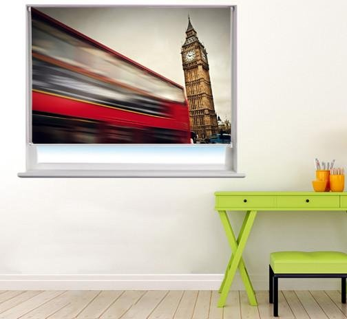 London bus and Big Ben Printed Picture Photo Roller Blind - RB260 - Art Fever - Art Fever