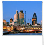 London City Skyline at Night Printed Picture Photo Roller Blind - RB37 - Art Fever - Art Fever