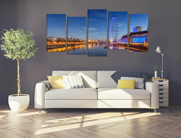 London Eye Image Multi Panel Canvas Print wall Art - MPC101 - Art Fever - Art Fever